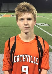 Northville senior captain Nikko Wood set up both goals in the Mustangs' 2-0 KLAA West Division win over Salem.
