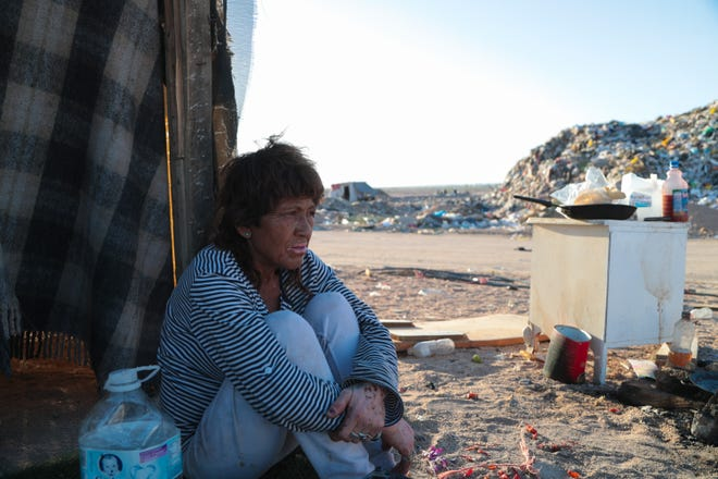 """Griselda Núñez Ramos is one of dozens of """"pepenadores,"""" or trash pickers, who live and work in a dump south of Mexicali."""