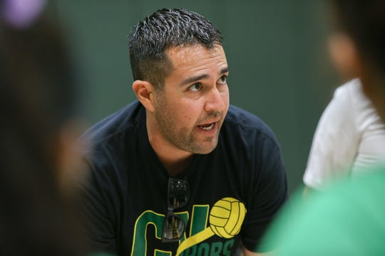 Coachella Valley Head coach Carlos Contreras instructs his troops during a 3-0 win over Cathedral City on Wednesday.