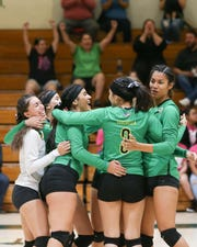 The Coachella Valley varsity volleyball team won Wednesday's home conference match against Cathedral City by a score of 3-0.