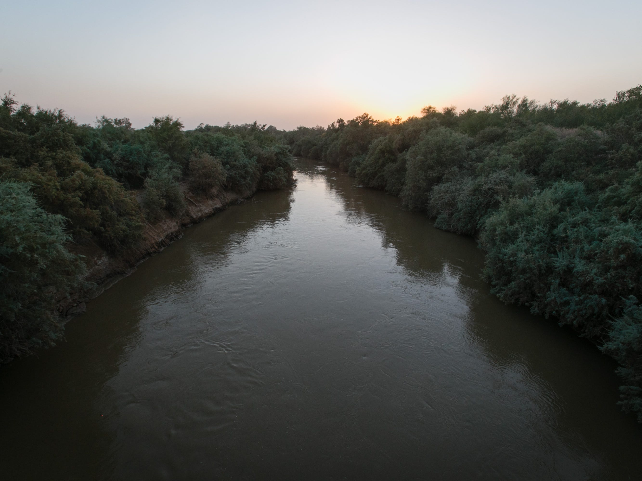 The New River flows through Brawley toward the Salton Sea.