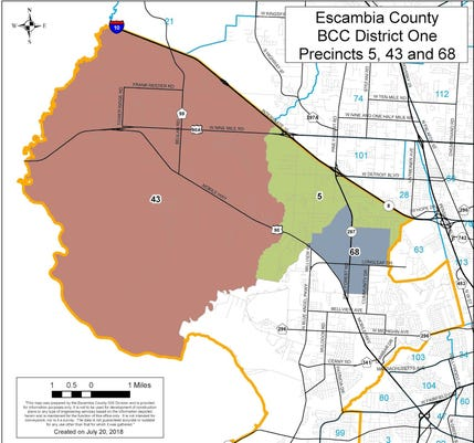 Northwest District 1 Advisory Committee map Beulah