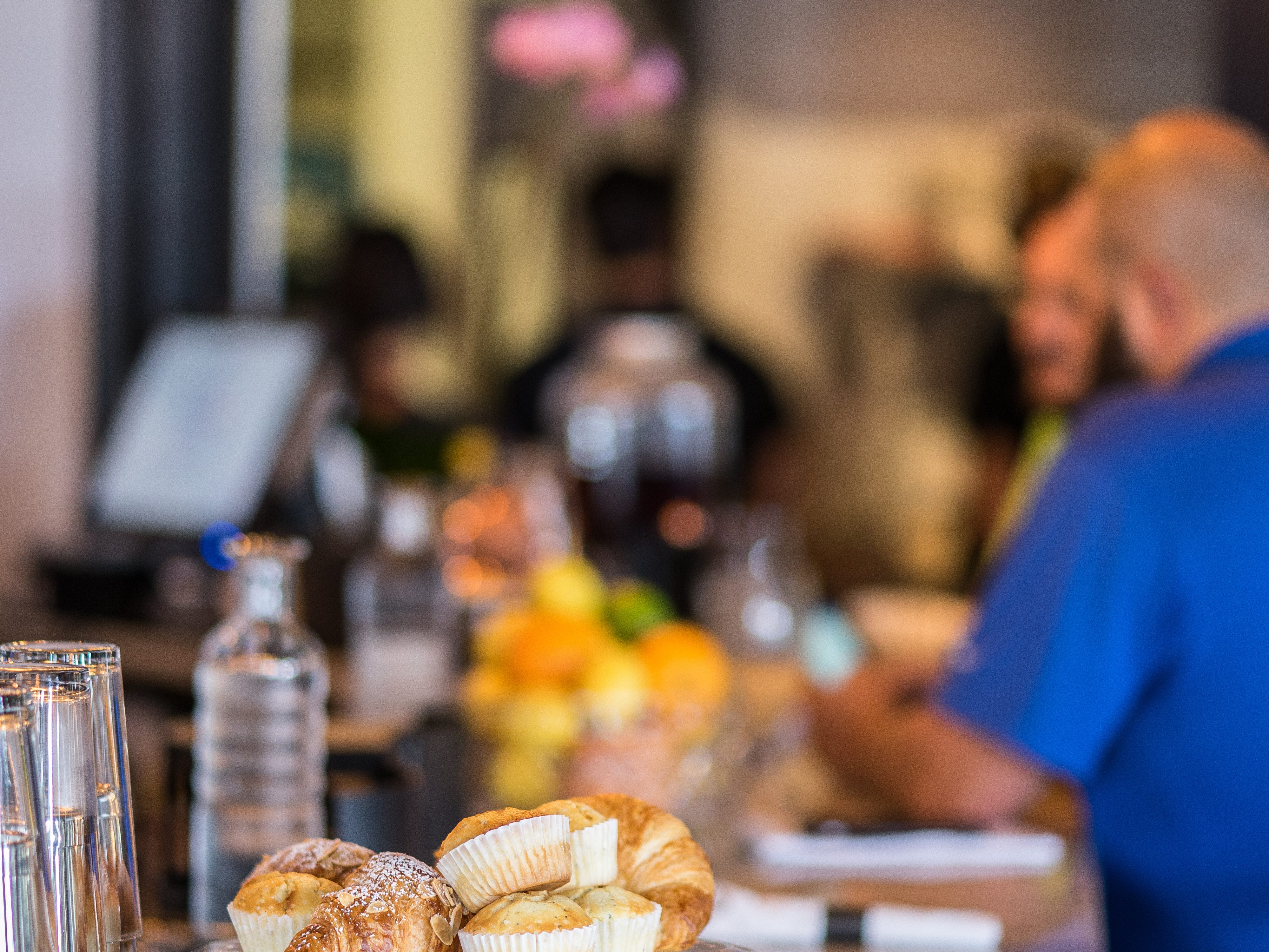 Pastries and fruit line the bar at George Bistro + Bar on Friday, Sept. 28, 2018.