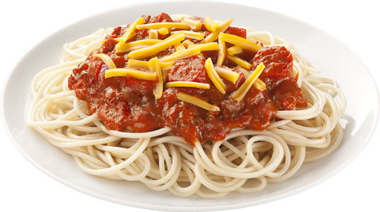 Prepared Filipino-style, Jollibee's spaghetti is distinctively sweet.