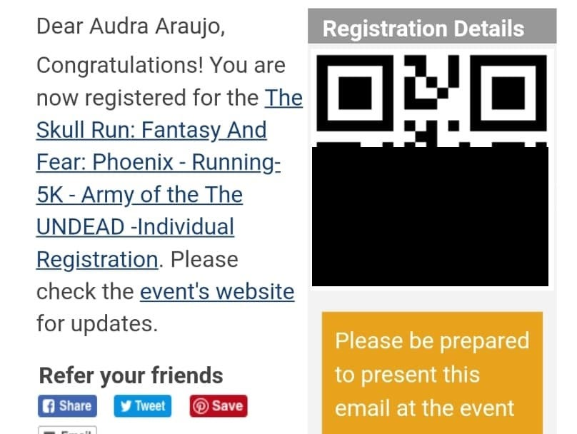 "Audra Araujo and her friends thought the ""Skull Run"" was legitimate since the location was near Rawhide Western Town & Event Center and they purchase tickets through the leading sporting event website, www.active.com."