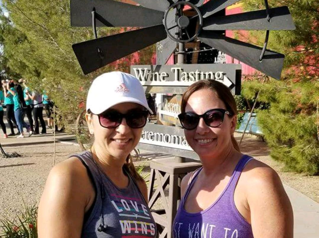 Merissa Rivera, left, and Stephanie Witwicki regularly attend races in Arizona. They never imagined they would be scammed.
