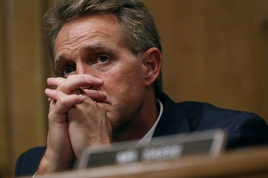 Sen. Jeff Flake at Blasey Ford hearing