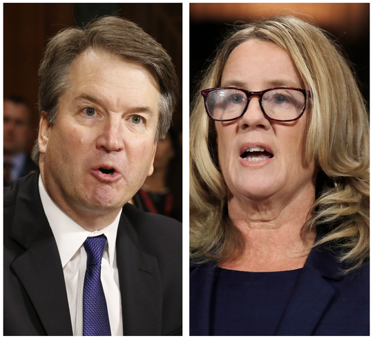 Brett Kavanaugh and Christine Blasey Ford.