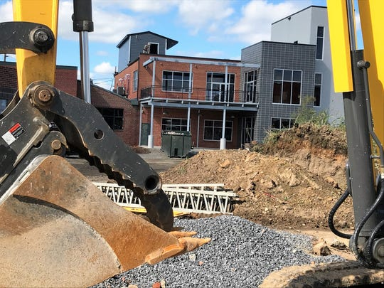 Work was being done at a building, to be known as the Grant Street Loft, on Grant Street on Friday, Sept. 28, 2018. The building is connected to the old Jennings dealership, which will soon house the Franklin County Commissioners and other county offices.