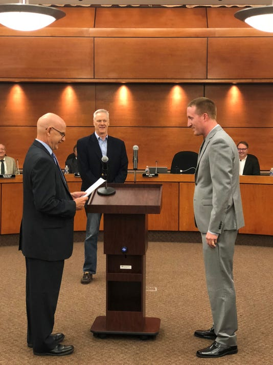 Justin Tomevi Sworn Into Office