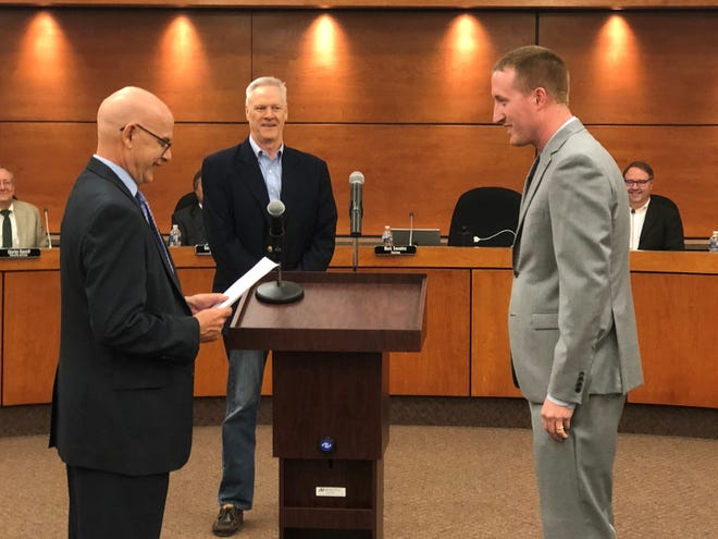 Justin Tomevi was sworn in as the newest Springettsbury Township supervisor Thursday, Sept. 27.
