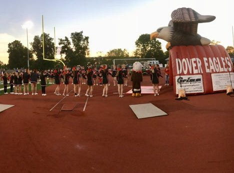 Youth programs show up in full force before Dover/Kennard-Dale football game at Dover.