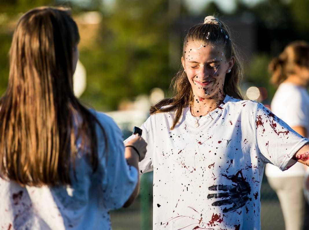 "This is why they call it ""Splatter-fest"" before Gettysburg's game against Eastern York."