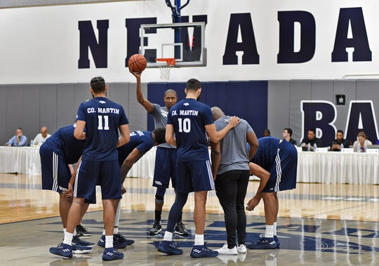 Nevada basketball players show off their skills in front of scouts during Wolf Pack Basketball Pro Day