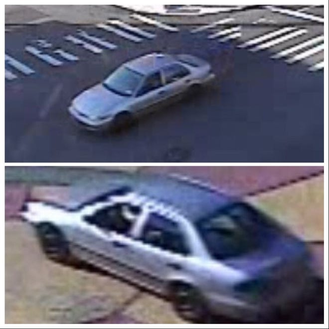 Rochester police released these photos of a car believed to have been involved in a crash Sept. 23 that injured a motorcyclist.