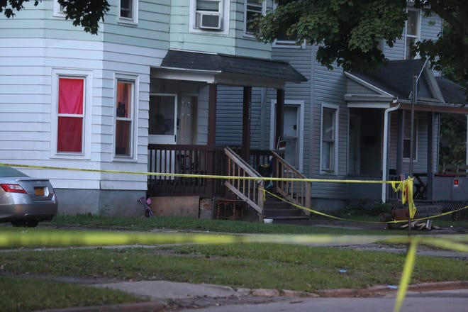 A man was fatally shot outside 387 Glenwood Ave. Thursday night.  Rochester Police have kept the surrounding block around the shooting blocked off while investigation continues today, Sept. 28, 2018.