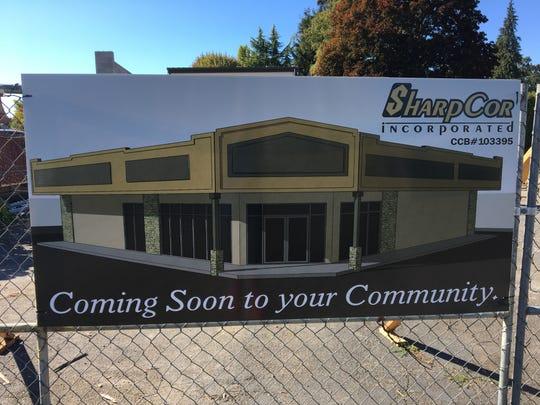 Construction signage at 2315 Commercial St. SE in Salem, Oregon, on Sept. 28, 2018.