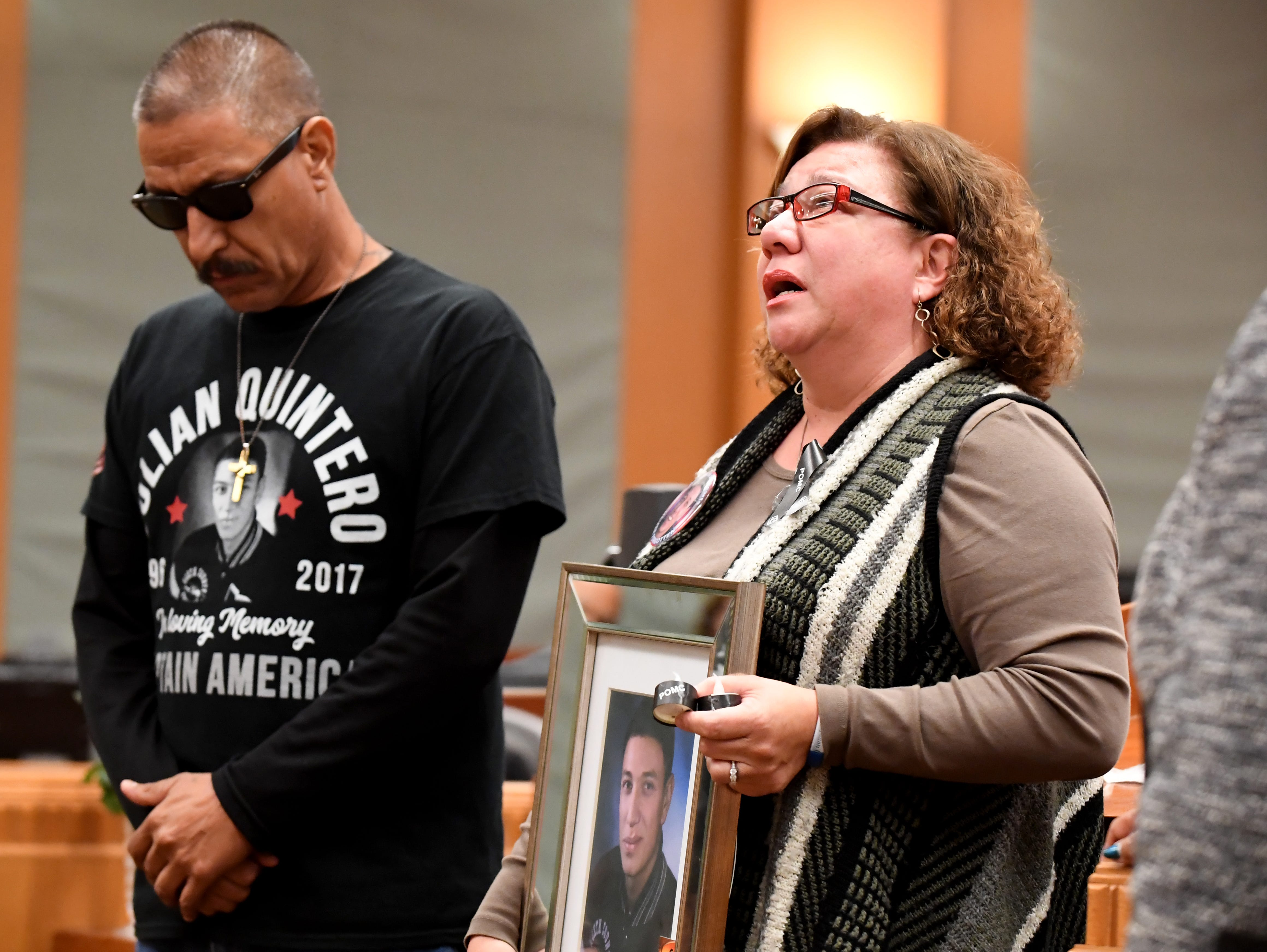 Gilbert and Lupe Quintero honor their son Julian Quintero who was killed in January 2017.