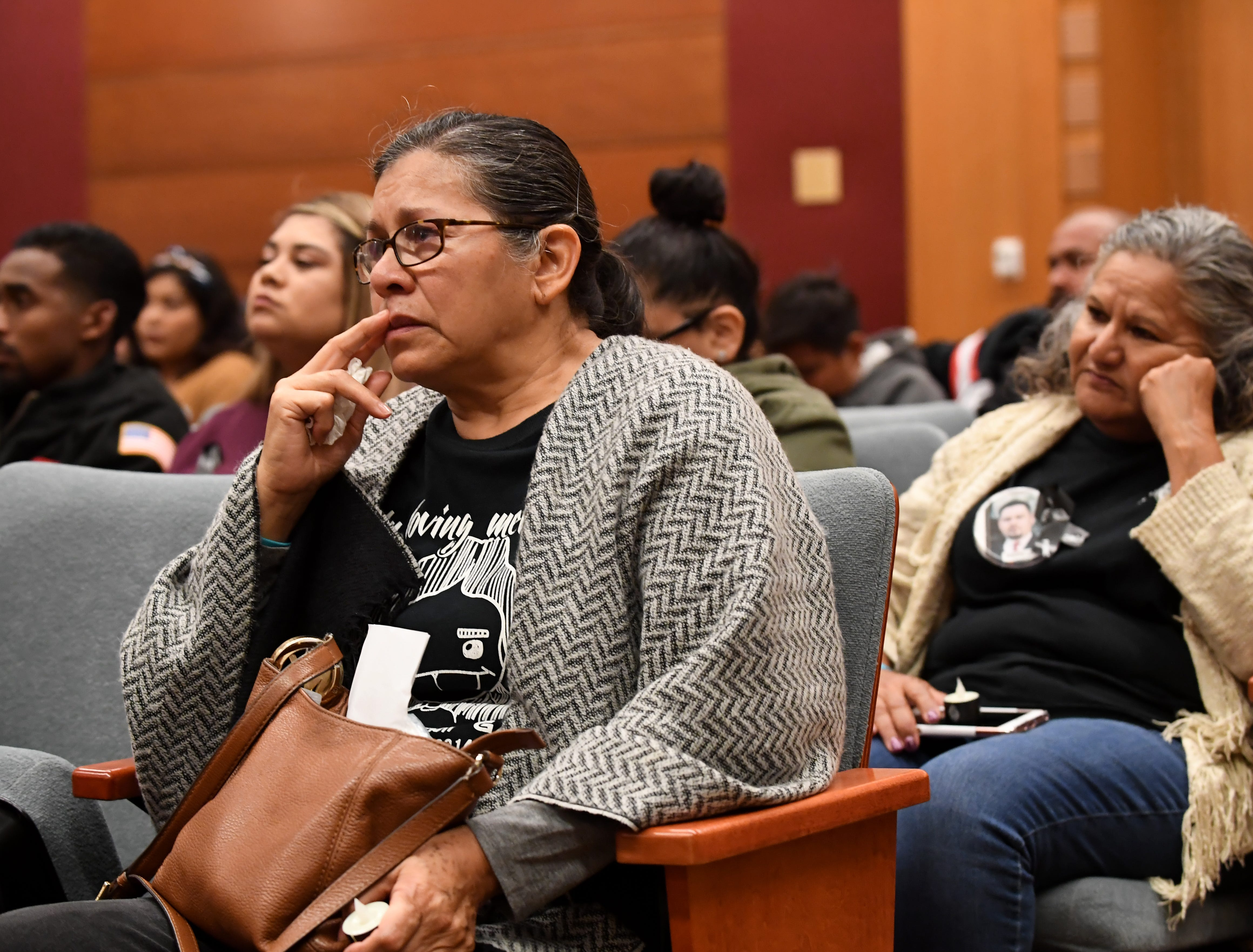 Maria Rodriguez attends the National Day of  Remembrance for Murder Victims on Thursday. Her son was killed in a hit-and-run at Natividad Road and Los Coches Avenue in 2014.