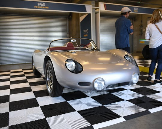 The 1960 Porsche 718 RS 60 Spyder was flown 5,800 miles from the Porsche Museum in Stuttgart, Germany to be on display this weekend at the Rennsport Reunion at WeatherTech Raceway Laguna Seca.
