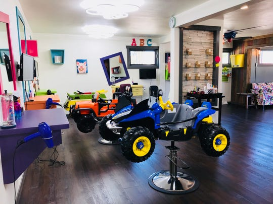 Corner Cuts Kids Salon opened with the mission of creating a comfortable environment for kids and parents to get hair cuts in Sheboygan. It is located on Calumet Drive in Sheboygan. It features bright colors and kids themes throughout the salon.