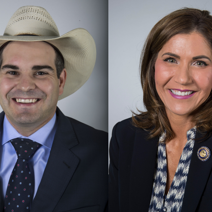 Billie Sutton and Kristi Noem are running for South Dakota governor.