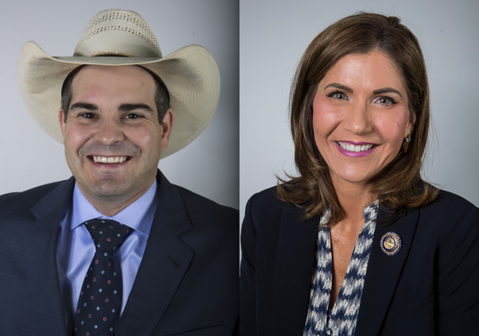 Billie Sutton and Kristi Noem are running for South Dakota governor.