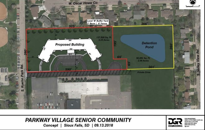 A revamped rezoning proposal that would clear the way for a senior living facility in southwest Sioux Falls earned the support of the City Council Monday night.