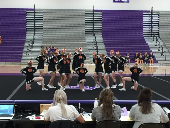 The Quarriers compete at the Dakota Valley Cheer and Dance Invitational on Sept. 22 in Dakota Dunes.