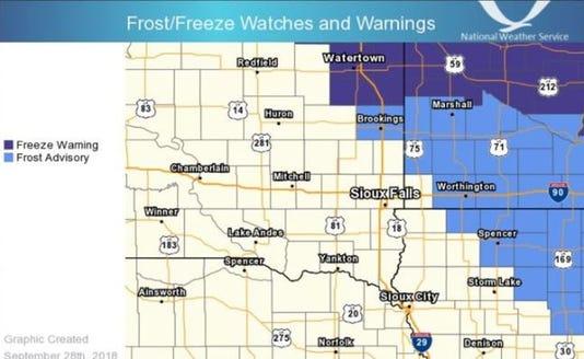 Freeze Warning 9/28