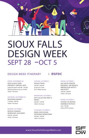 The poster for the 2018 Sioux Falls Design Week.