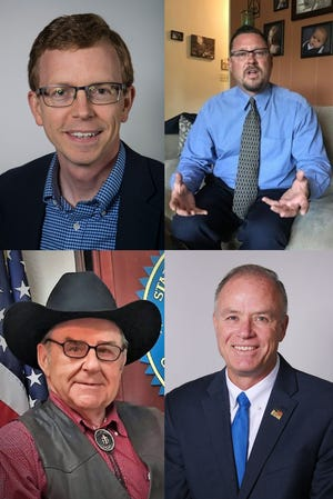 "Dustin ""Dusty"" Johnson, George Hendrickson, Ron Wieczorek and Tim Bjorkman are running for the U.S. House of Representatives."