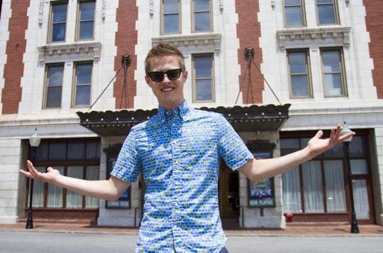 """Lucas Grabeel visits the Landers Theatre on July 25, 2013, when he was in his late 20s. Grabeel performed in many productions at the theater when he was a teenager. Five years later, he's a producer and actor in a new adaptation of an American classic novel, """"Little Women."""" The Pure Flix movie comes out in theaters Sept. 28, 2018."""