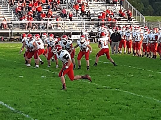 Riverheads warming up before Friday's game at Stonewall Jackson.