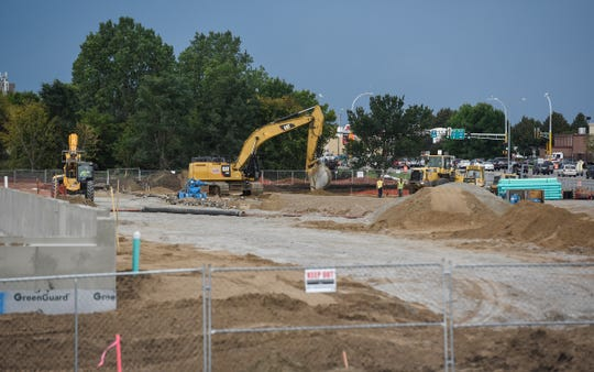 Crews work at the future site of Costco Wholesale, expected to open in summer 2019, along Second Street South and 33rd Avenue South in St. Cloud on Monday, Sept. 17.