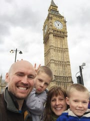 Maria Surma Manka and her family have gone to London, New Zealand and Spain for workations, working vacations. They are shown here in 2016 in front of Big Ben in London.