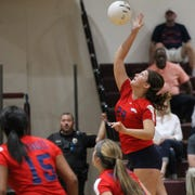 Wakulla's Maggie Metcalf goes up for a kill during a game at Florida High last week.