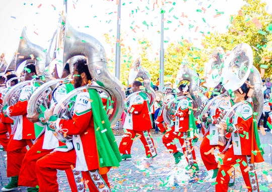 FAMU's Marching 100 captured during  previous homecoming parade.