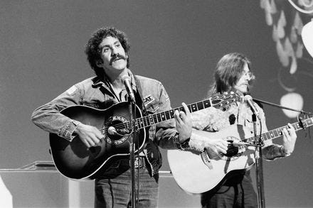 Jim Croce, left, and guitarist Maury Muehleisen were both killed in the same plane crash in 1973. Muehleisen was Croce's secret weapon.