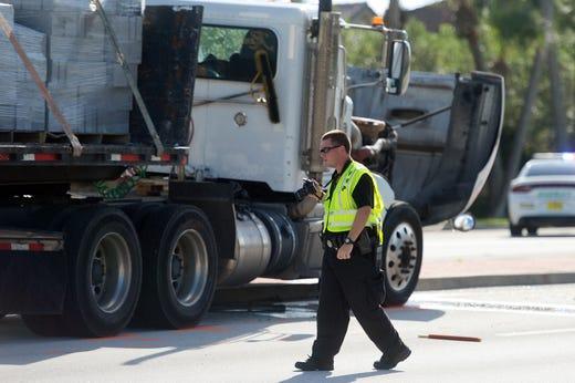 Fatal crash shuts down road near Vero Beach at Oslo Road and