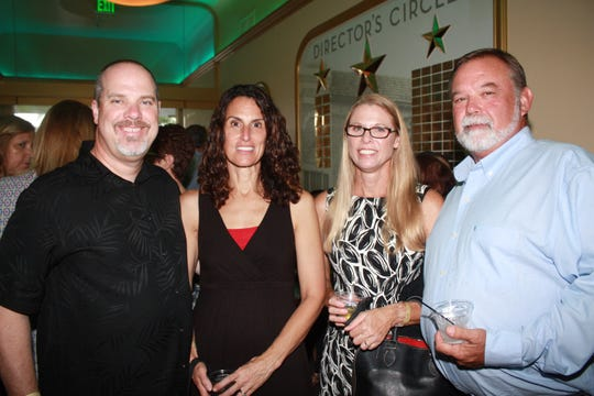 Sponsor Bryan Graham, left, of Oceanside Physical Therapy, and Allison Graham, and Beth and Bruce Leiblein at the cocktail reception for the 2018 Dancing With the Martin Stars.