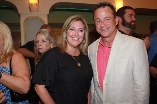 Past Dancing With the Martin stars contestants and Healthy Start Coalition board members Stacey Hetherington and Patrick Murray at the Lyric Theatre on Sept. 22.