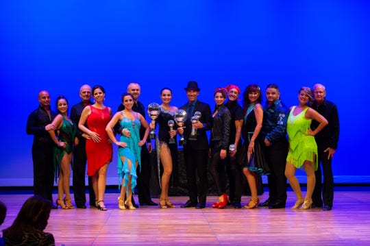 Dancing With the Martin Stars cast, from left, Dunsleys Valladares and Ann Rodriguez, Bob Murray and Jaime Schwartz, Jennifer Jones and Greg Delekta, Overall Winners Marianella Tobar and George Gozdz, Megan Acosta and Mike Renfro, Jill Bogacik and Mike Gonzalez and Cheree Ramirez and Craig Calvin.