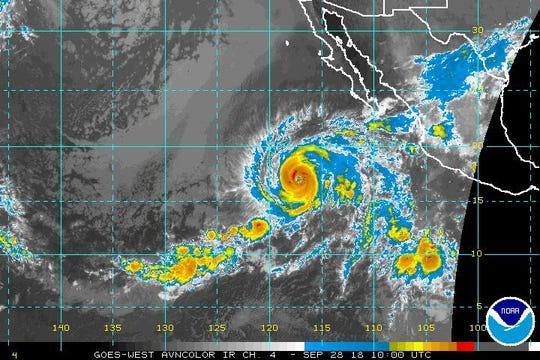 Hurricane Rosa 5 a.m. Sept. 28, 2018