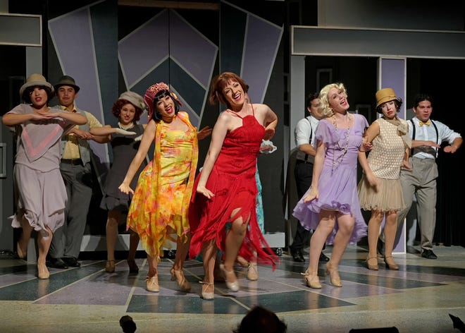 "The cast of ""Thoroughly Modern Millie"" dances in a productions by Studio C Performing Arts. The show runs  through Oct. 21 at the Simi Valley Cultural Arts Center."