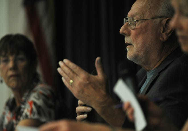 In this 2018 file photo, Angelo Spandrio speaks during the Casitas Municipal Water District's Division 4 forum in Oak View.