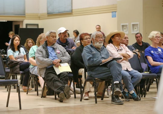 South Oxnard residents listen to candidates running for City Council last year at the South Oxnard Senior Center. On Thursday, a neighborhood council town hall will focus specifically on issues on the city's south side.