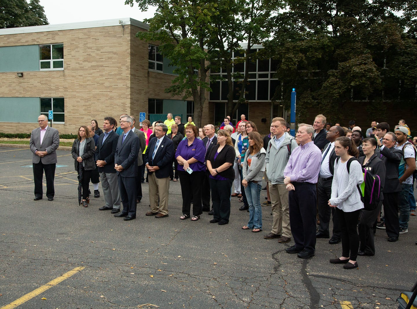About 100 students, faculty, staff and community members attended the Sept. 19 sign unveiling at UW-Stevens Point at Wausau.