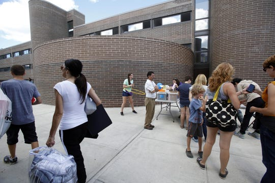 Purchase College, State University of New York Students move into the dorms at Purchase College, State University of New York, Aug. 28, 2015.