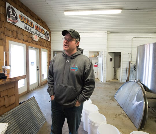 Brett McCrea, owner of 16 Mile Brewery in Georgetown, in a file photo.
